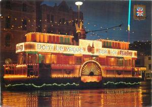 Paddle steamer illuminated tram Blackpool