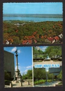 IL Lot 2 PEIORIA ILLINOIS Postcards River Ct Plaza