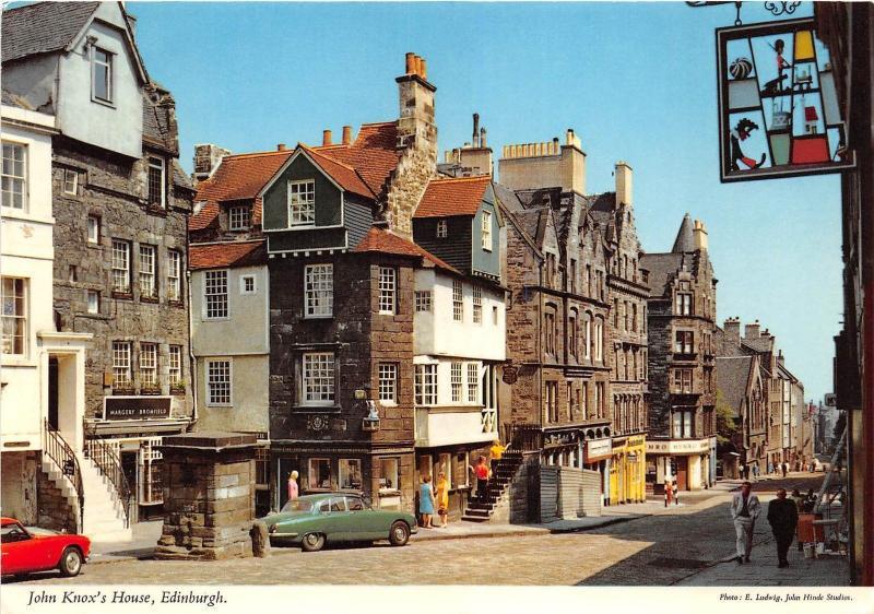 Bg32789 john konx s house edinburgh car voiture scotland