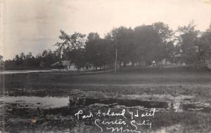 Center City Minnesota~Park Island~Swamp~Cabins Along Foot Bridge~c1912 RPPC