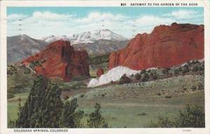 Colorado Colorado Springs Gateway To The Garden Of The Gods 1934