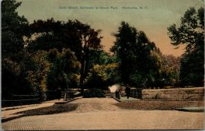 Wellsville New York~State Street Entrance to Island Park~Fountain Spray~1909 PC