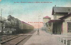 IN, Plymouth, Indiana, Pennsylvania Railroad Train Station Depot
