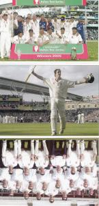 2005 Ashes England Vs Australia Victory 3x Cricket Postcard s