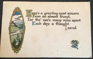 "Vintage Postcard Used ""Friendship"" Handdrawn? LB"
