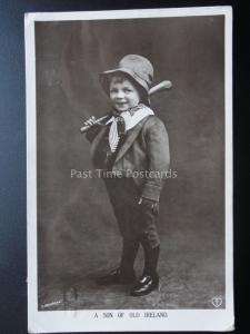 Ireland: Little Boy & Shillelagh A SON OF OLD IRELAND c1912 RP by T.Johnstone