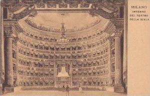 Italy Milano Interno del Teatro della Scala