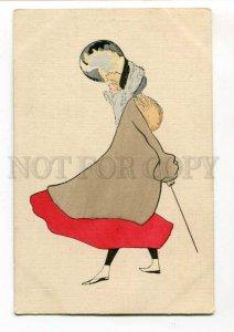 288408 ART NOUVEAU Fashion Lady Vintage Paul Bayer #1289 PC
