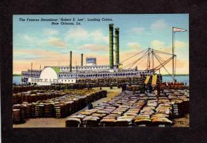 LA Steamboat Steamship Steamer Paddle Wheel New Orleans Louisiana Postcard