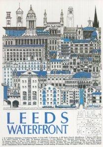 Leeds Waterfront British Waterways Yorkshire Advertising Postcard