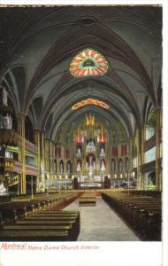 MONTREAL, Quebec, Canada, 1900-1910´s; Interior Of Notre Dame Church