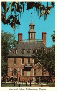Williamsburg, VA, The Governor's Palace, 1961 Chrome Vintage Postcard g9170