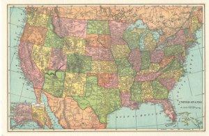 United States Of America Alaska USA Map Postcard