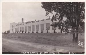 RP: BALSAM LAKE , Wisconsin, 30-40s ; County Garage