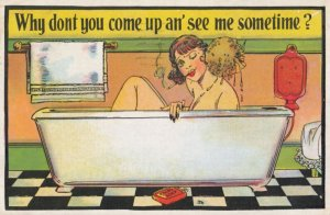 Girl in bath Why dont you come up an' see me sometime? , 1936