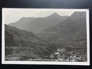 Cumbria: Grisedale Pass and Dollywaggon Pike c1925 Old RP Postcard Pub by Lowe
