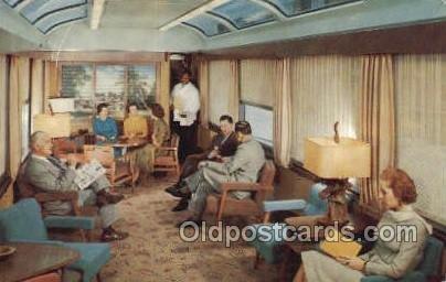 Sun Lounge Silver meteor, NY, FL USA Train, Trains, Locomotive  Unused