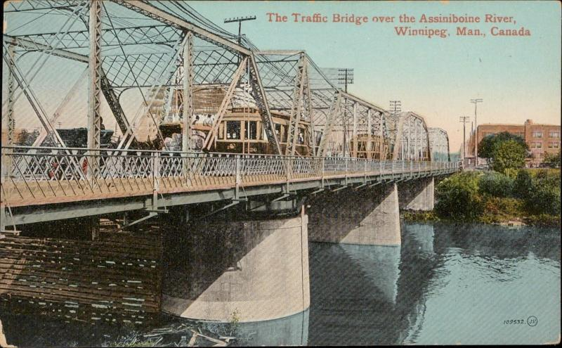 Traffic Bridge Assiniboine River Winnipeg Canada