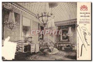 Belgie Belgium Royal Palace of Brussels Old Postcard The Blue Room