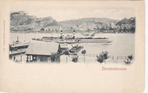 Panoramic View of EHRENBREITENSTEIN, Koblenz, Rhineland-Palatinate, Germany, ...