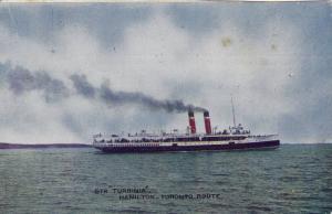 Steamer Turbina, Hamilton- Toronto Route, Ontario Canada, PU-1910