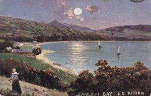 SCOTLAND, PU-1906; Lamlash Bay, L.O. Arran, Sail Boats