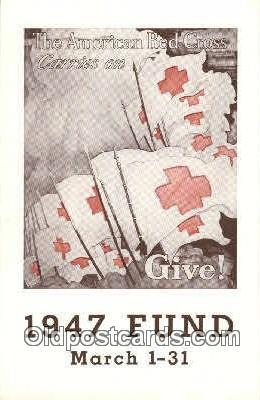 1947 Fund Campaine Red Cross Postcard Postcards  1947 Fund Campaine