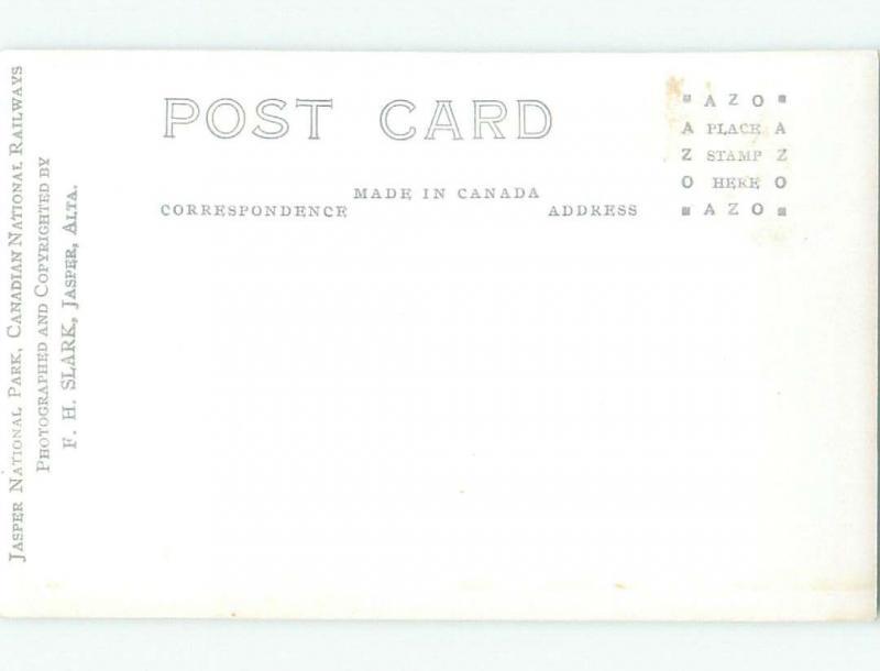 Pre-1949 rppc NICE VIEW Jasper Alberta AB W1041