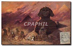 Postcard Ancient Egypt The Sphinx in Egypt Simoun Stamp Levant