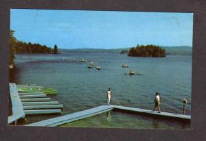 ME Boyland Boys Camp Naples Maine Postcard Brothers of Christian Instruction