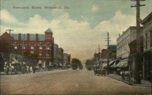 Brunswick GA Newcastle St. c1910 Postcard