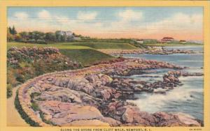 Rhode Island Newport Along The Shore From Cliff Walk Curteich