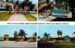 Florida West Palm Beach Royal Palm Motor Lodge and Restaurant 1961