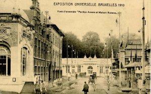 Belgium - 1910 Exposition Universelle Bruxelles, Pavilion Anvers & Maison Rubens