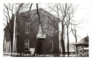 LPSS68 Steelville Missouri Crawford County Court House Postcard RPPC
