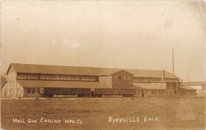 E77/ Byesville Ohio RPPC Postcard c1910 Hull Gas Engine Factory Building