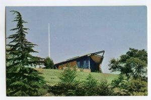 Postcard Rose Hills Memorial Park Hillside Church Whittier CA Standard View Card