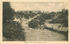 Arizona Central Drug 1920s Truss Girder Bridge Postcard 3969