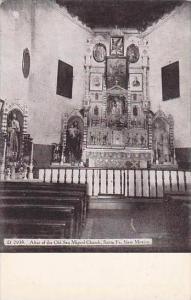 New Mexico Santa Fe San Miguel Church Tha Altar