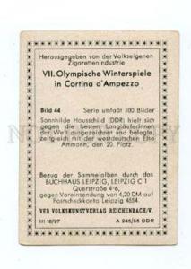 166991 VII Olympic SONNHILDE HAUSSCHILD skier CIGARETTE card
