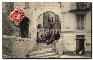 Menton - Sleep City and Entree of Mattoni street - Old Postcard