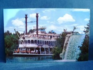 Postcard CA Disneyland Mark Twain Paddleboat #2