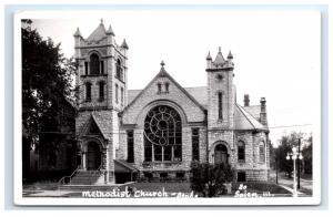 Postcard Methodist Church, Salem, IL  RPPC H8