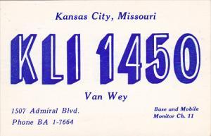 KLI 1450 Kansas City Missouri Van Wey