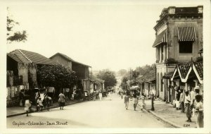 ceylon, COLOMBO, Dam Street (1920s) Canadian Pacific Cruise RPPC Postcard (1)