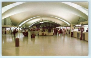 ST. LOUIS, Missouri MO  Lambert Field AIRPORT TERMINAL LOBBY c1960s-70s Postcard