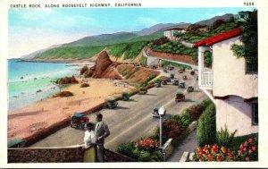 California Castle Rock Along The Roosevelt Highway
