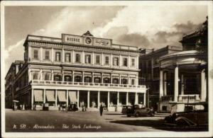 Alexandria Egypt The Stock Exchange Real Photo Postcard