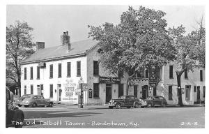 Bardstown KY Old Talbot Tavern Coffee Shop Old Cars RPPC Postcard