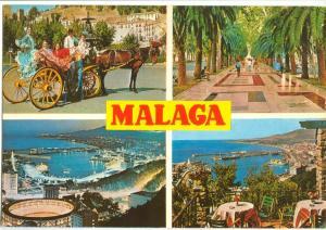 Spain, Costa del Sol, Malaga, 1975 used Postcard